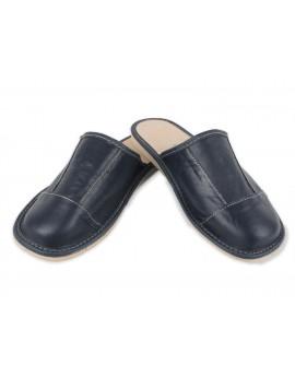 Męskie pantofle ze skóry - klasyczne laczki 11DL