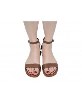 Damskie sandały skórzane gladiatorki RB