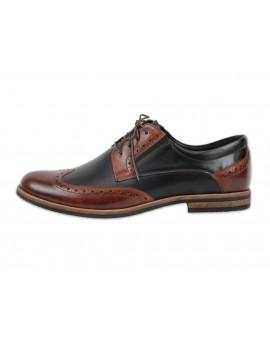 Ekskluzywne skórzane buty wizytowe w stylu retro - Vintage
