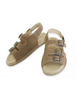 Sandały skórzane Fusbet profilowane ortopedyczne