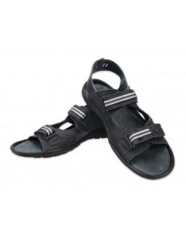 Męskie sandały skórzane polskie skóra naturalna A448