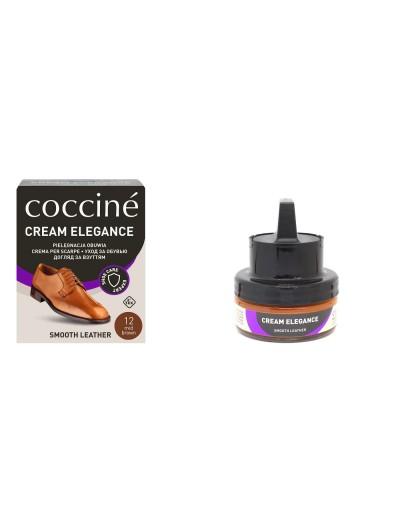 CREAM ELEGANCE - brązowy krem do obuwia z naturalnym woskiem