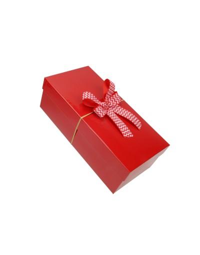 Pudełko na prezent - opakowanie ozdobne 33 x 14 x 12 cm z kokardą 1