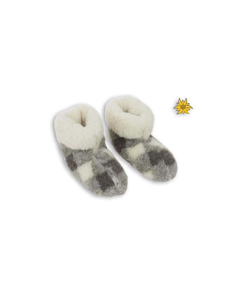 Bambosze pantofle domowe - gruba ciepła wełna - skarpety
