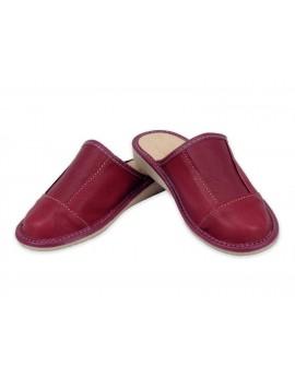 Pantofle laczki domowe A9L - Skóra naturalna 100%