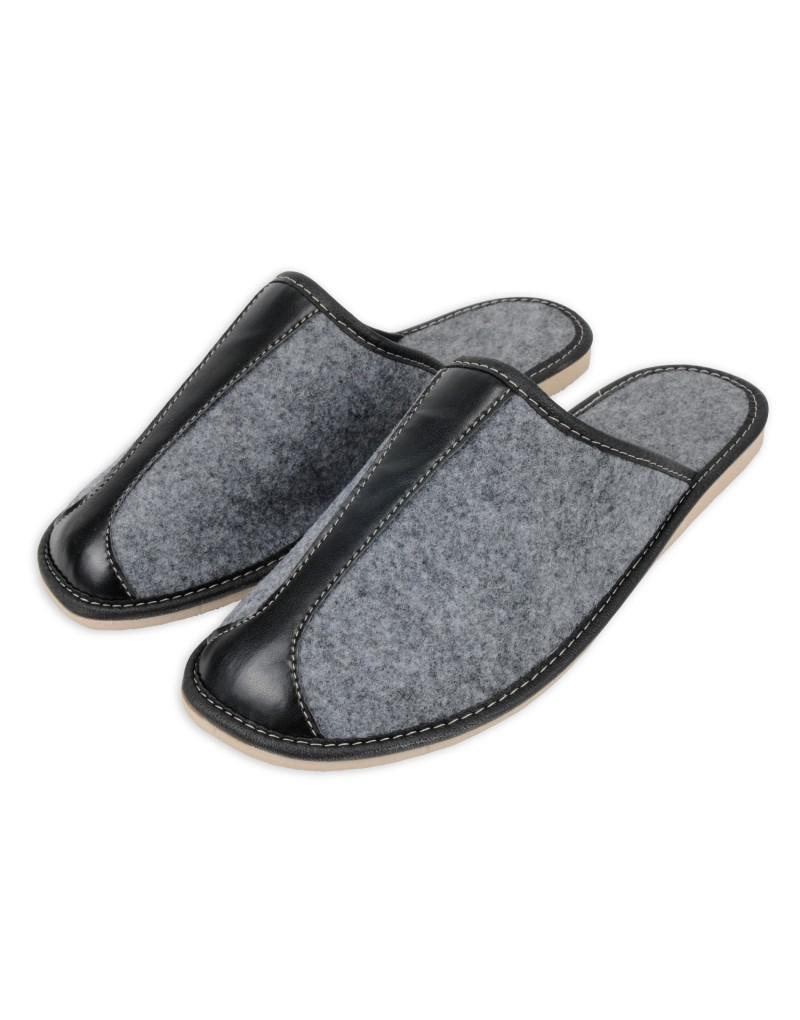 Męskie pantofle filcowe - klasyczne laczki A5 filc