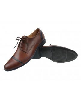 Brązowe buty do garnituru - Rosetti R295