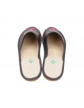 Skórzane Pantofle Super Tata - Personalizowany Prezent na dzień Ojca