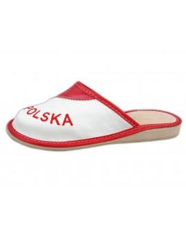 Skórzane Pantofle KIBICA - POLSKA Upominek Prezent - Damskie