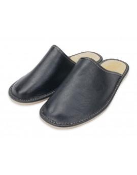 Pantofle A5LC skórzane Kapcie Laczki SUPER PREZENT