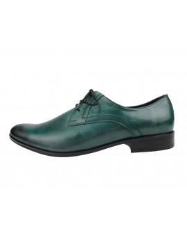 Zielone eleganckie buty do garnituru