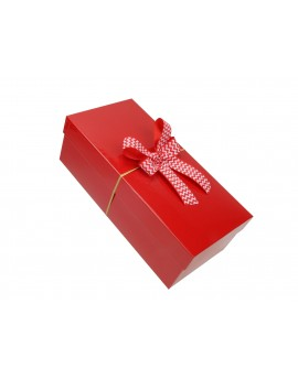 Pudełko na prezent - opakowanie ozdobne 33 x 14 x 12,5 cm z kokardą 1