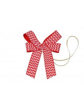 Czerwona kokarda ozdobna do dekoracji prezentów