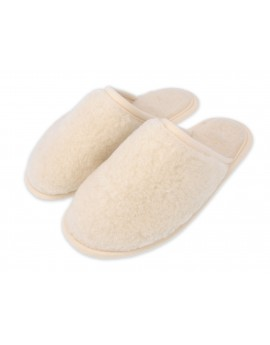 Ciepłe mięciutkie pantofle domowe - runo wełniane
