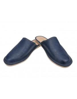 Pantofle A5LN męskie skórzane kapcie domowe