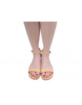 Damskie sandały skórzane gladiatorki RCS