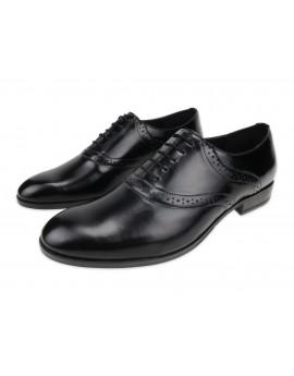 Eleganckie czarne klasyczne wiedenki oxfordy G2683