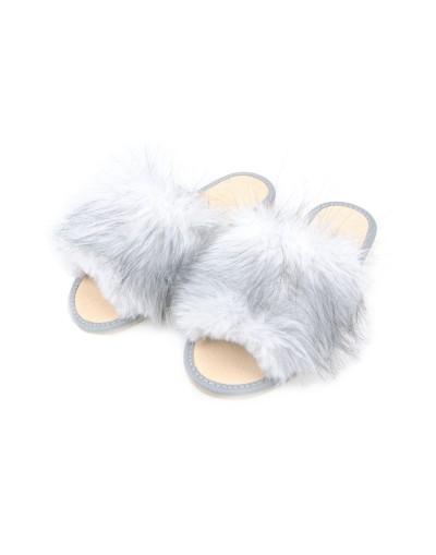 Damskie pantofle domowe z futerkiem