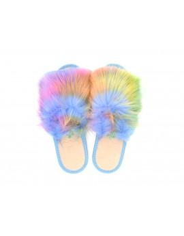 Damskie pantofle domowe z futerkiem A29RF