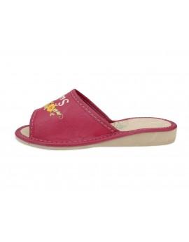 Super Mama - Skórzane pantofle haftowane - Prezent na dzień Matki - Certyfikat